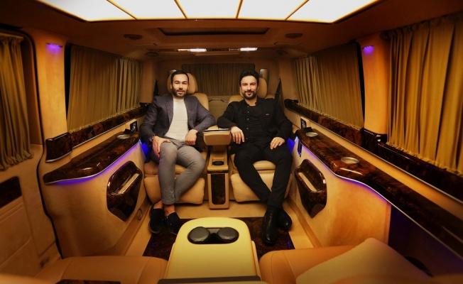 Megastar Tarkan'a özel tasarım ultra lüks VIP minibüs!