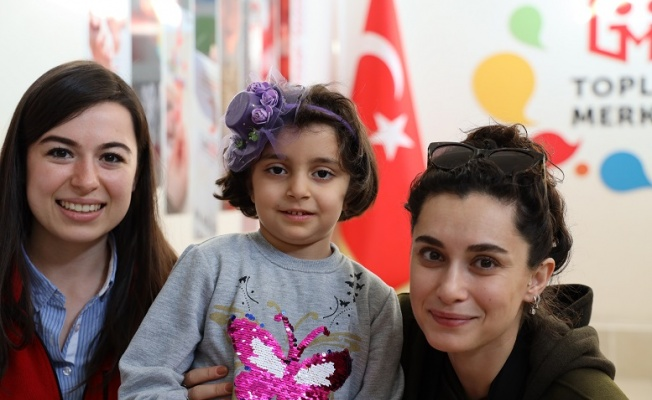 Hande Doğandemir Mardin de göçmen çocuklarıyla buluştu