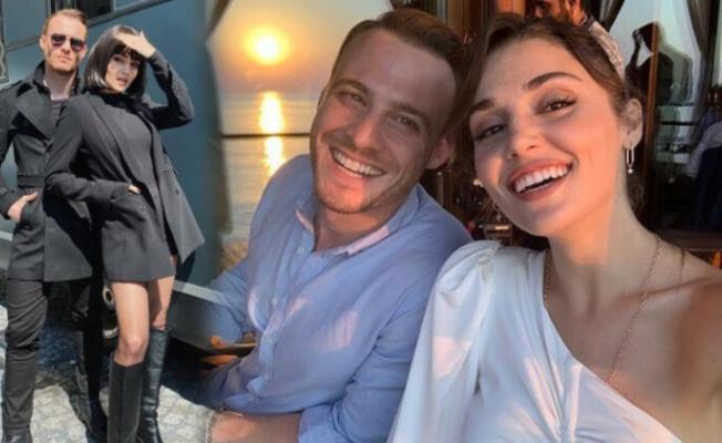 Hande Erçel ile Kerem Bürsin Maldivler'de fena yakalandı!