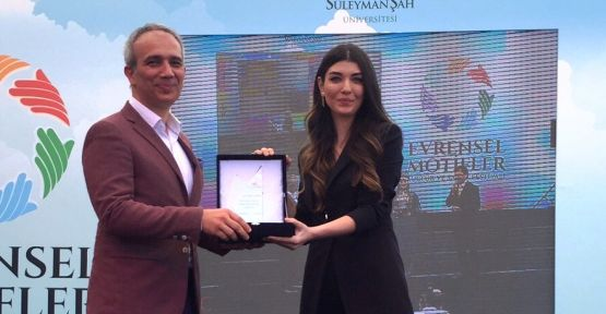 Aslıhan Güner'e bir ödülde Süleyman Şah Üniversitesi'nden !