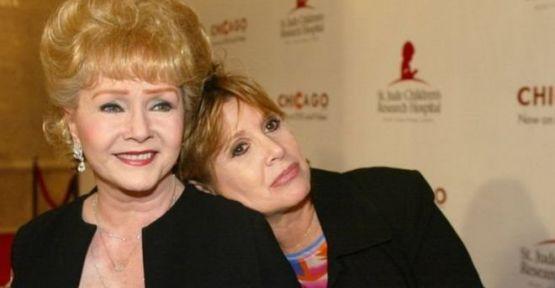 Carrie Fisher'in annesi Debbie Reynolds kızının ölümüne dayanamadı