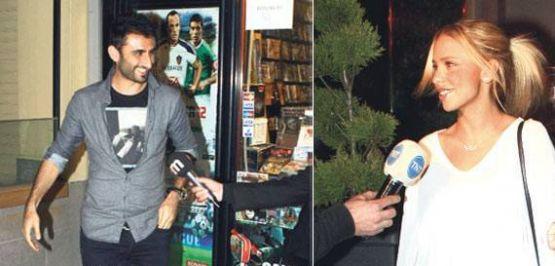 Fenerbahçeli Selçuk Şahin, Burcu Pehlivan'la görüntülendi