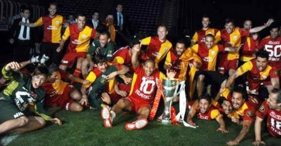 Galatasaray kupayı Kadıköy'de kaldırdı...