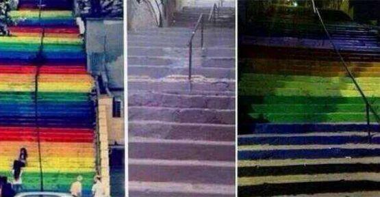 'Gökkuşağı' rengini griye çeviren Beyoğlu Belediyesi'ne ünlülerden tepki yağdı