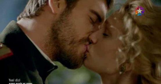 Kurt Seyit ile Şura'nın öpüşme sahnesi damgayı vurdu!