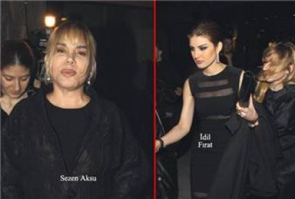 Sezen Aksu, İdil Fırat'ın doğum gününe katıldı.