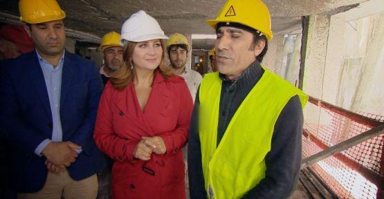 Sibel Can inşaatta yetenek aradı