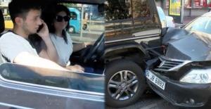 Beşiktaş'ta zincirleme kaza! Sibel Can ve oğlunu korkutan kaza!