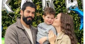 Burak Özçivit ve Fahriye Evcen'den Karan'a sürpriz doğum günü!