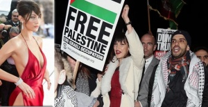 Bella Hadid Filistin için sokaklarda