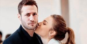 Bahar Şahin dizide ki partneri Ozan Dolunay ile öpüşürken görüntülendi
