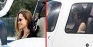 Angelina Jolie uçak kullandı