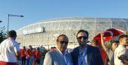 Yılmaz Ulusoy, İspanya hezimetini oğlu Mehmet Ulusoy ile birlikte izledi
