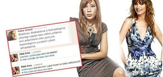 Tuba Ünsal  ile gazeteci Sibel Arna Twitter'da birbirlerine girdi