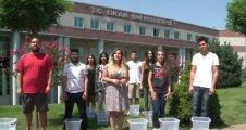 """""""ALS - IceBucketChallenge"""" kampanyasına Okan Üniversitesi öğrencilerinden destek"""