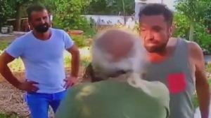 Halil Sezai babası yaşında adamı darp etti