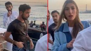 Şevval Şahin'in eski sevgilisi, yeni sevgilisi Kerem Kamışlı'yı sandalye ile denize attı!
